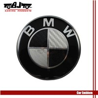 4pcs Aluminum steering wheel logo sticker for BMW Car