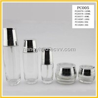 50G clear cosmetic glass bottles and jar