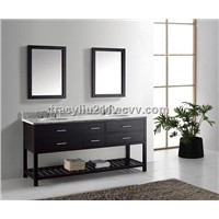 72 Inch Double Bathroom Vanity Cabinet in Espresso Color