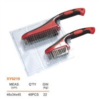 Advanced soft handled cleaning wire brush