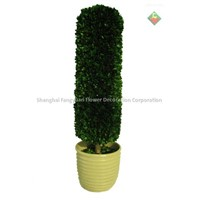 Artificial tree boxwood topiary (cylinder)