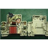 C45 type circuit breaker MCB with 1P,2P,3P,4P 1A to 63A has passed CE,ROHS certificate