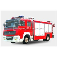 CHINA SINOTRUCK 6T/6M3 WATER FIRE TRUCK/FIRE ENGINE/FIRE FIGHTING TRUCK  290HP, ERUO II