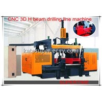 CNC 3D beam drilling line machine for steel structure