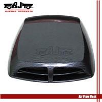 Carbon Air Flow Vent Decorative Car Hood Engine Sticker Port Hole Vent