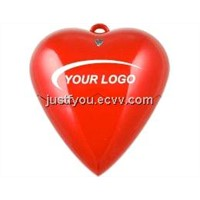 Custom Heart Shape Necklace 512M/1G/2G/4G USB Disk Flash Drive