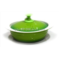 Enamel Cast Iron Cooking Pot-Porcelain Coated Cast Iron Cookware