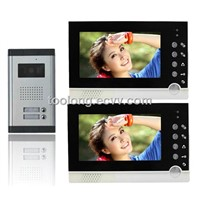 Factory Selling Video Door Phone Intercom Camera Security for 2apartments 7inch TFT Night Vision