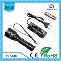 Global Wholesale 1000lm Powerful 18650 Battery Flashlight