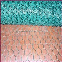 Green PVC Coated Chicken Wire / Hexagonal Wire Mesh