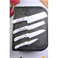 Zirconium Ceramic Kitchen Knife with flower pattern
