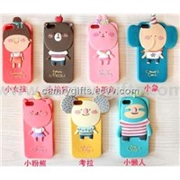 Lovely cartoon silicone phone case,mobile phone cover