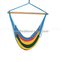 Luxury Brazilian colorful rope hanging chair