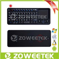 Mini Wireless Keyboard Backlit Keyboard With Touchpad