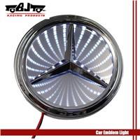 NEW 3D White LED Car Blue Decal Logo Light for Benz