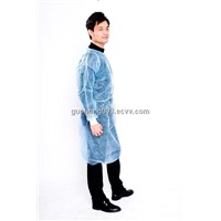 Non woven lab coat, velcro closure/ disposable protective clothing/