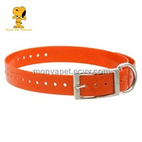 Orange color TPU dog collar made in China (MCP-002)