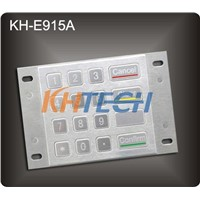 Rugged stainless steel panel mount ATM keypad