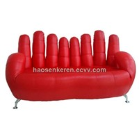 SZ-33 Double Hands kids chair love seat children chair PVC leather