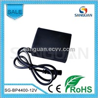 Silicon Waterproof 4.4Ah 12V Battery Pack for Bike Light/ LED Strip
