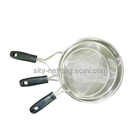 Silicone Stainless Steel Mesh Strainer and Colander3 Sets
