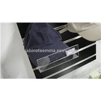 Slatwall Acrylic Shelf, Slanted Cap Display with Lip