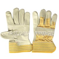 Top Cow grain leather double palm driving glove
