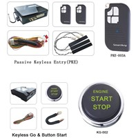 Top Remote start car alarm ,passive keyless entry,push button start,arm or disarm,PKE car alarm
