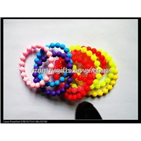 Top selling fashion colourful pearl silicone bracelet,promotional wristband