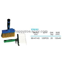 Two-color rubbery handle brush