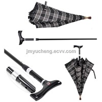 Unbreakable Dual Purpose and adjustable Umbrella Walking Stick