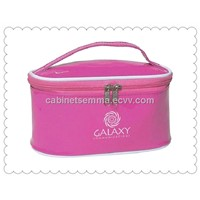 Wholesale PU Leather Cosmetic Storage Bag,Girls Makeup Leather Carrier Box