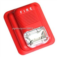 Wired fire alarm with strobe