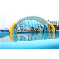 inflatable pools with tent