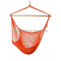 outdoor garden cotton rope hanging chair
