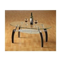 oval glass coffee table xyct-027