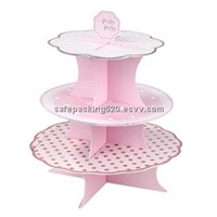 tiers paper/cardboard cupcake stand for party