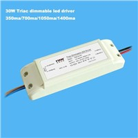 triac dimmable led driver 700ma 30W 700ma 1400ma 1500ma PF>0.95 CE&ROHS 3 year warranty