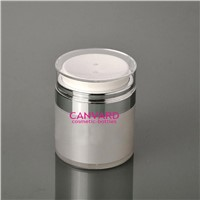 wholesale 50g high end airless press jar for eye cream, airless cosmetic jars