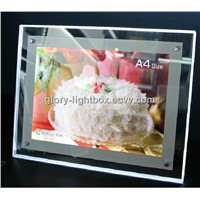 Crystal Light Box/ Desktop LED acrylic poster signs