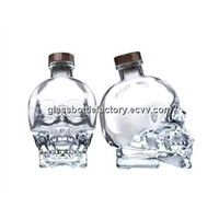 Glass Skeleton Shape  Liquor Bottles