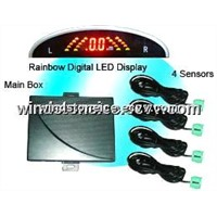 Rainbow LED Display Wireless Car Parking Sensor System (WRD039C4)