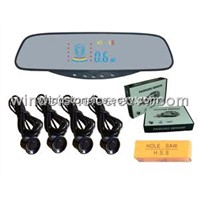 Wireless System Car Rearview Mirror HUD Display Parking Sensor System