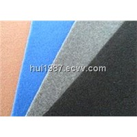 100% polyester nonwoven plain velour carpet