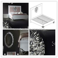 2014 New Design Divany Furniture Blanket Throws Bedroom Bed (LS-403)