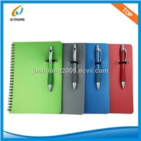 32K PP COVER SPIRAL NOTEBOOK WITH PEN