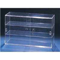 Acrylic Showcase Lockable Display Cabinet with Sliding Doors