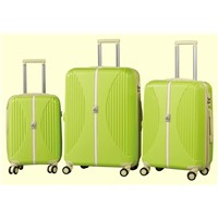 Businessman's Favorite B.Green PP Injection Carry-on Zipper Trolley Suitcase Set