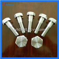China Manufacture Excellent DIN933 GR5(6AL4V) Hexagon Head Titanium bolts / screws for Bicycle
