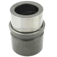Demountable guide bushings with crossed oil grooves for auto mould components